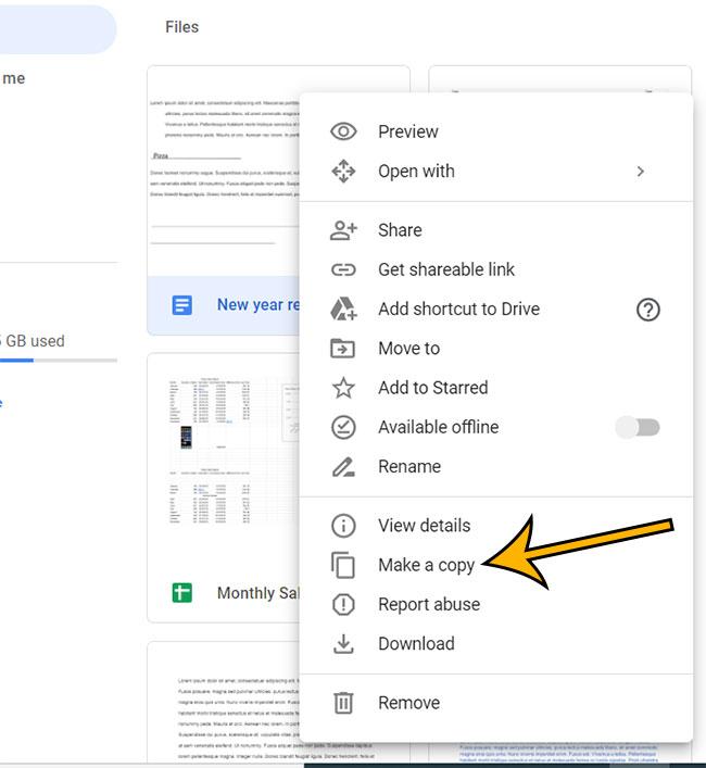 how to make a copy of a Google Doc