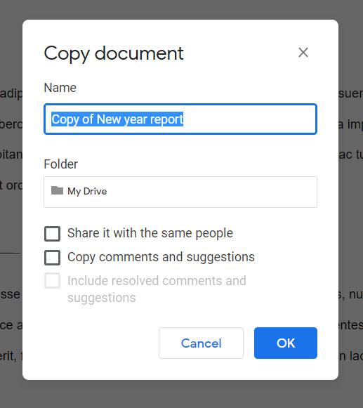 making a Google Doc copy when Google Docs is already open