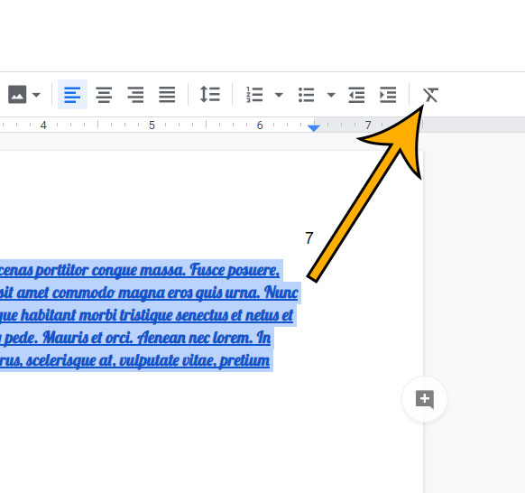 find out how to clear formatting in Google Docs