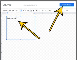 how to insert text box in Google Docs document