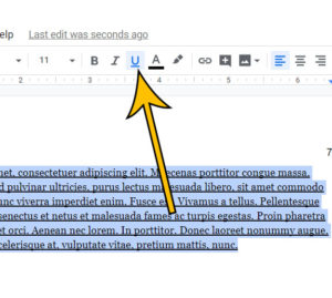 how to remove underlining in Google Docs