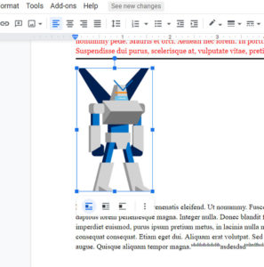 how to remove a picture from a Google Docs document