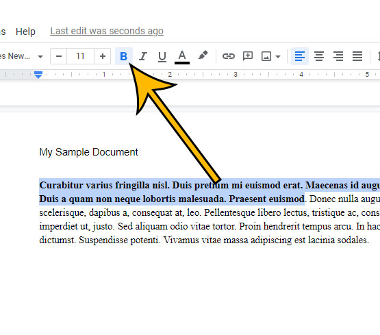 how to remove bold from text in Google Docs