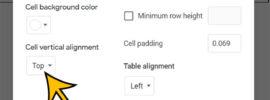 Google Docs vertical alignment