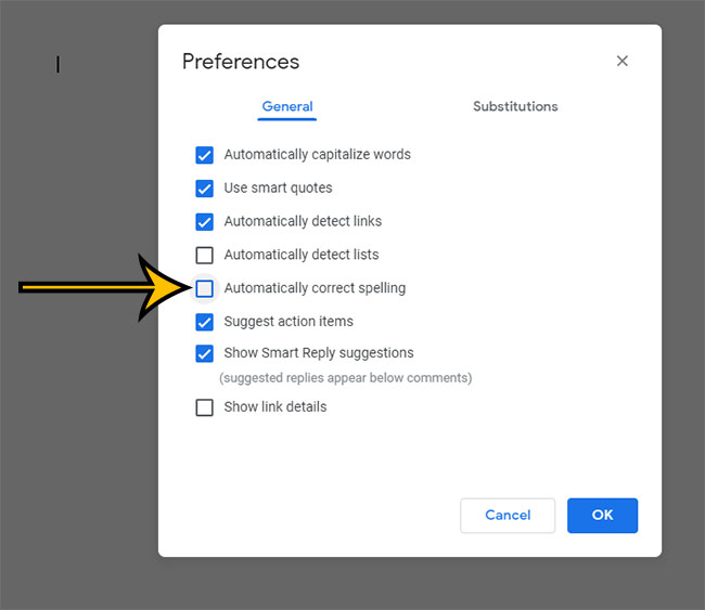 how to stop Google Docs from auto correcting